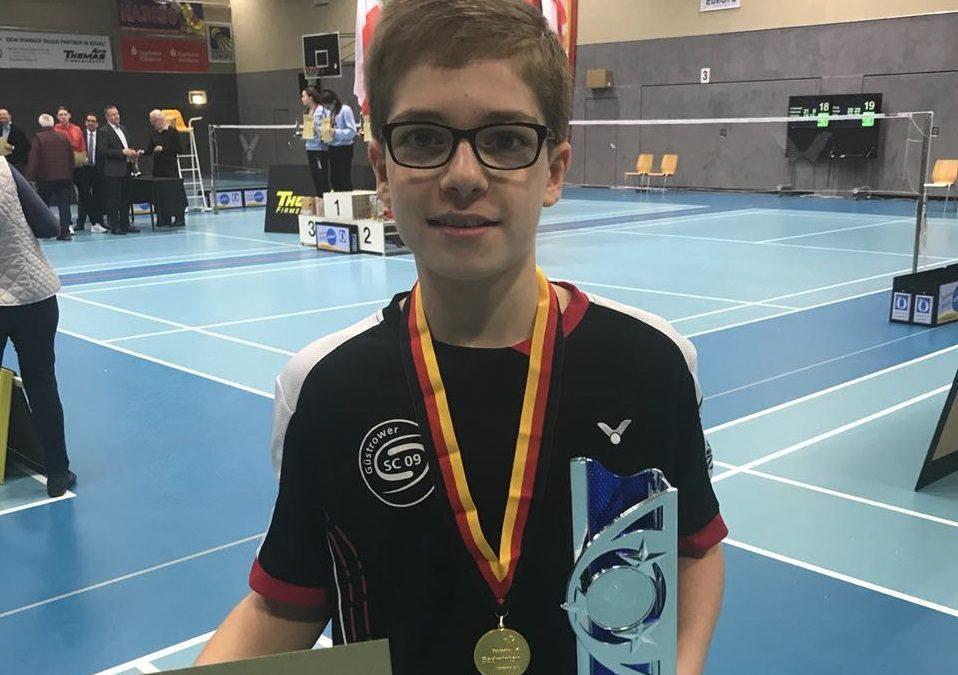 DEM U13: Luca Wiechmann wird Deutscher Meister
